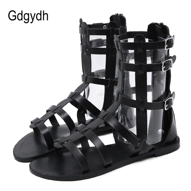 Gdgydh 2019 New Motorcycle Boots Open Toe Summer Ankle Boots Cover Heel Cut outs Female Sandals Boots Snake Skin Ladies Shoes