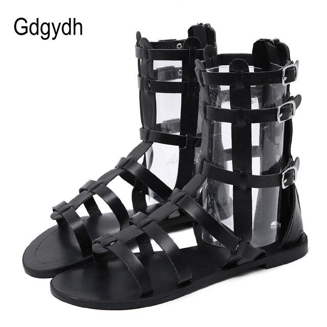 Gdgydh 2019 Yeni Motosiklet Çizmeler Burnu açık Yaz yarım çizmeler Kapak Topuk Cut çıkışları Kadın Sandalet Çizmeler Yılan Cilt Bayanlar Ayakkabı