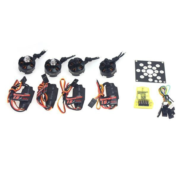 RC Helicopter Kit KV2300 Brushless Motor +12A ESC+ Straight Pin Flight Control for 250 Helicopter F12065-E electronic components set kv2300 brushless motor 12a esc straight pin flight control open source for 250 helicopter f12065 b