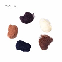 Hight Quality 20pcs/lot Elastic Nylon Hairnets Black Blonde and White Color Invisible Hair nets For Package Hair and Wig Cap