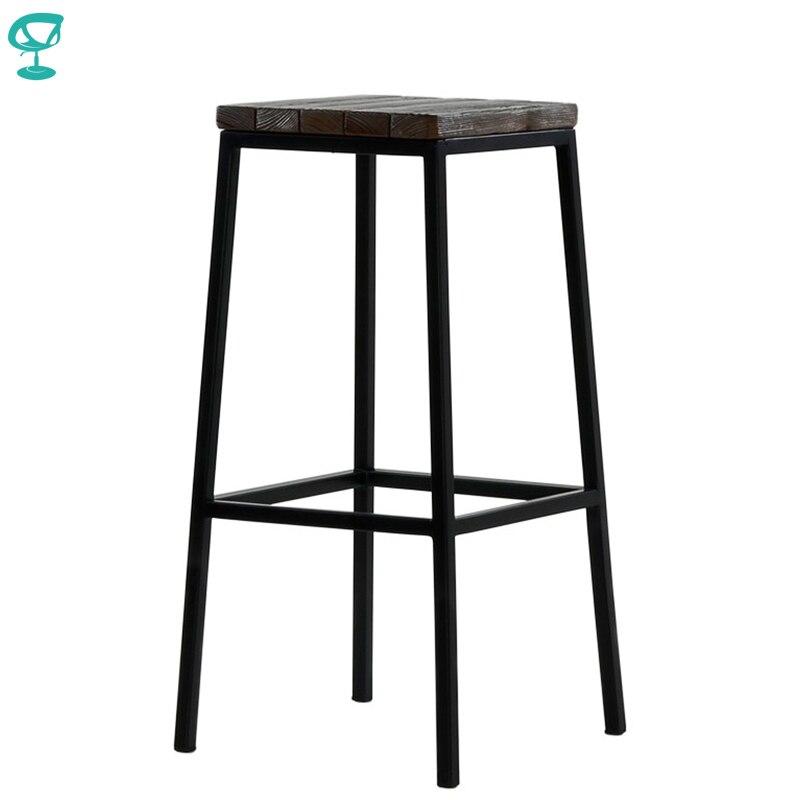 95378 Barneo N-301 haut métal bois cuisine petit déjeuner intérieur tabouret Bar chaise cuisine meubles noir livraison gratuite en russie