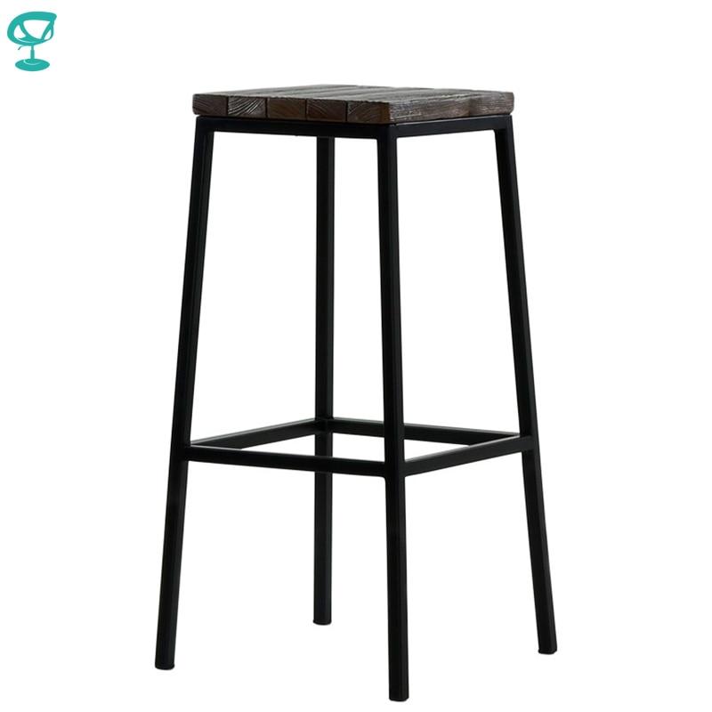 95378 Barneo N-301 High Metal Wood Kitchen Breakfast Interior Stool Bar Chair Kitchen Furniture Black Free Shipping In Russia