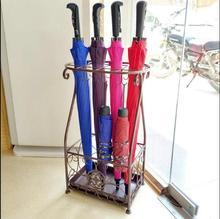 Umbrella stand hotel lobby home iron umbrella drum bucket storage