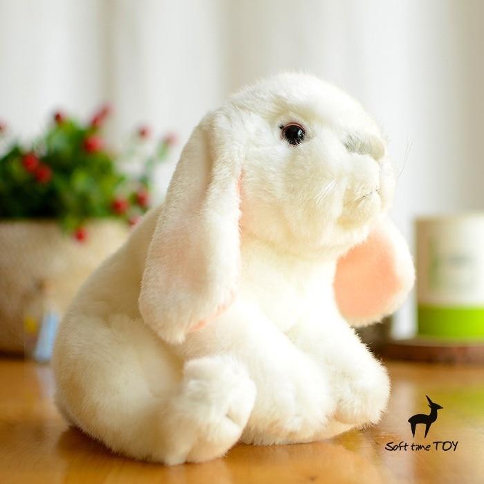 Kids Toys  White Lop  Rabbit Doll  Cute  Plush Rabbits  Stuffed Animals  Birthday Gift 26cm 1 piece 13 8 35cm 2015 new design pink hat my melody cute rabbit stuffed plush toys doll kid s birthday gift