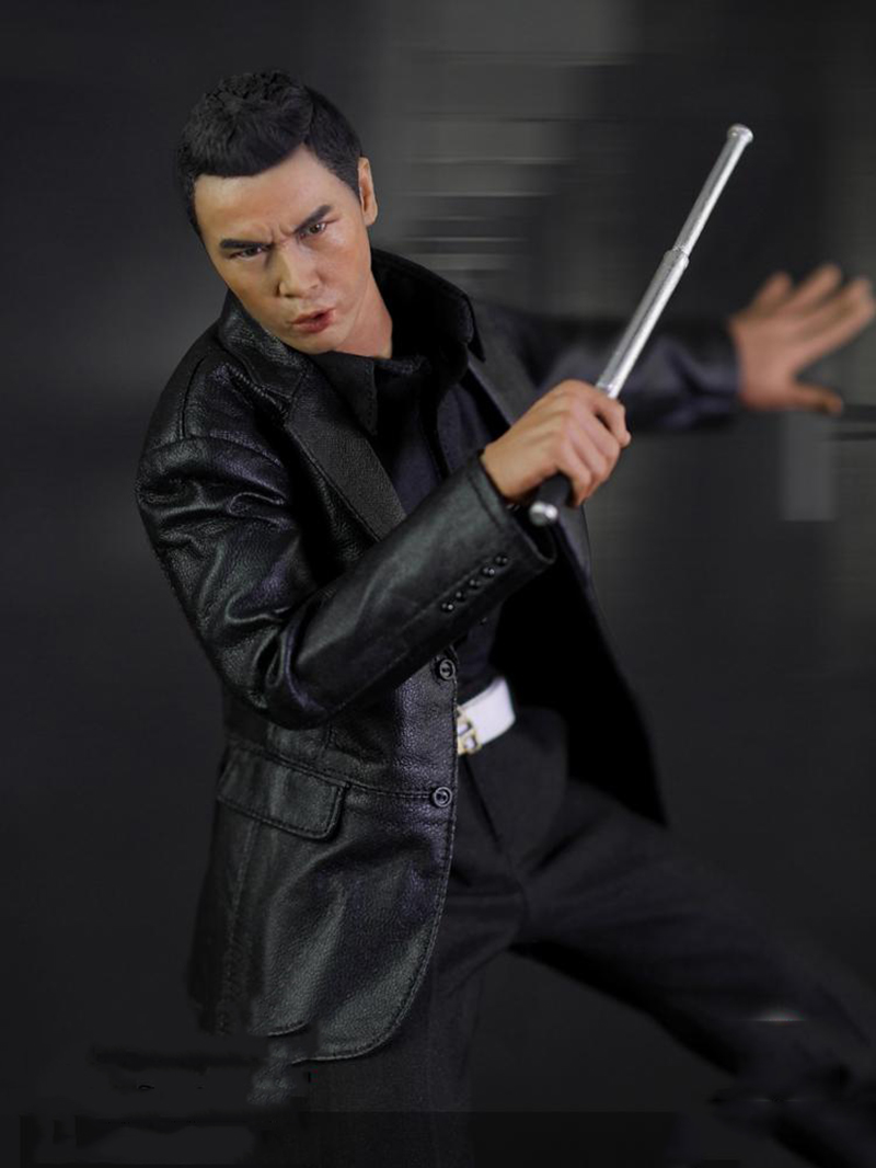 1/6 HK CID Senior Inspector Donnie Yen Sir Collcection Action Figure With Two Heads image
