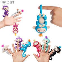 lovely baby Monkey Cute Fingerlings Stress Release Fun Finger Puppets Electronic Toys For Kids  vocalization gifts