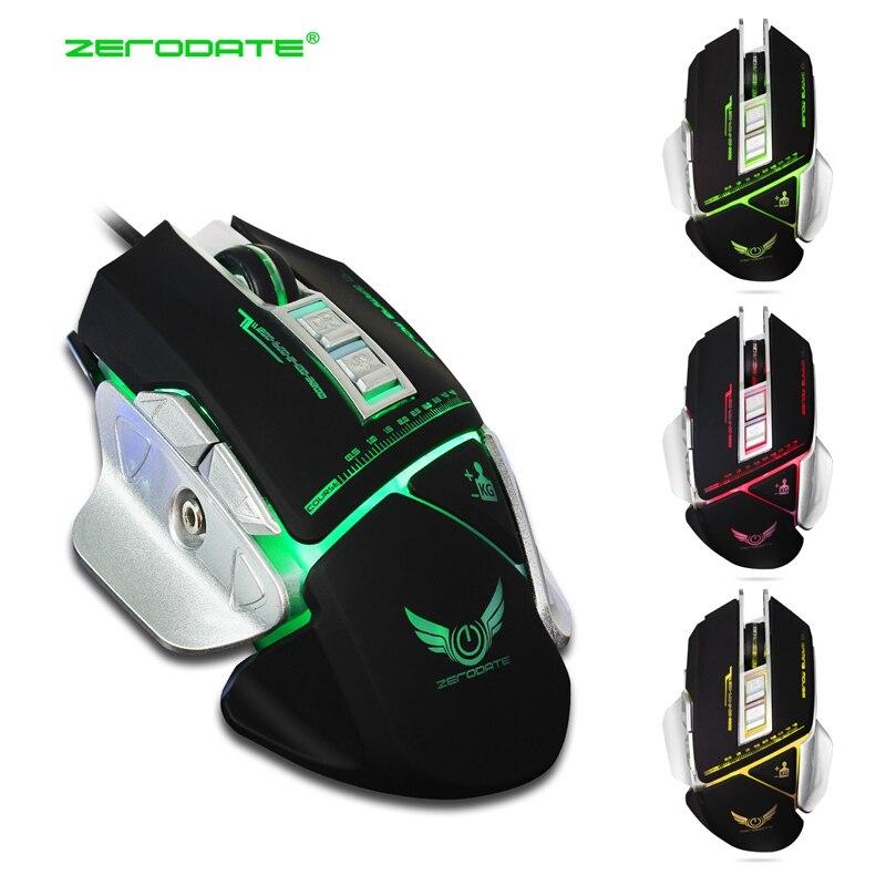 Computer Gaming Mouse Ratón Mecánico Macros Define USB Óptico Atado Con Alambre