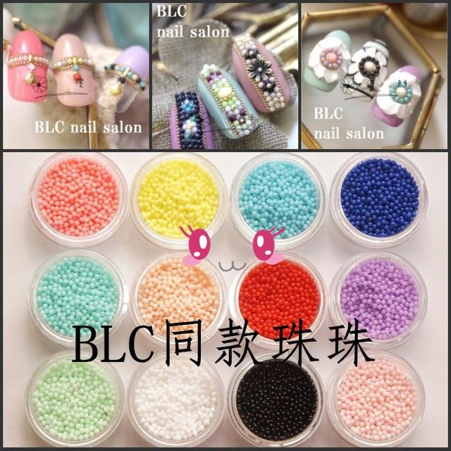 4g/bottle Korea Mini Colorful Nail Art Beads 3D Decoration DIY Nail ...