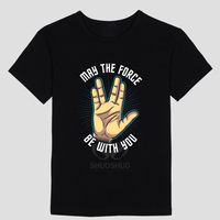 Star Trek Spock Live Long And Prosper DIY Men S Short Sleeve T Shirt Cotton Round