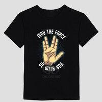 Star Trek Spock Live Long And Prosper DIY Men S Short Sleeve T Shirt Cotton Round