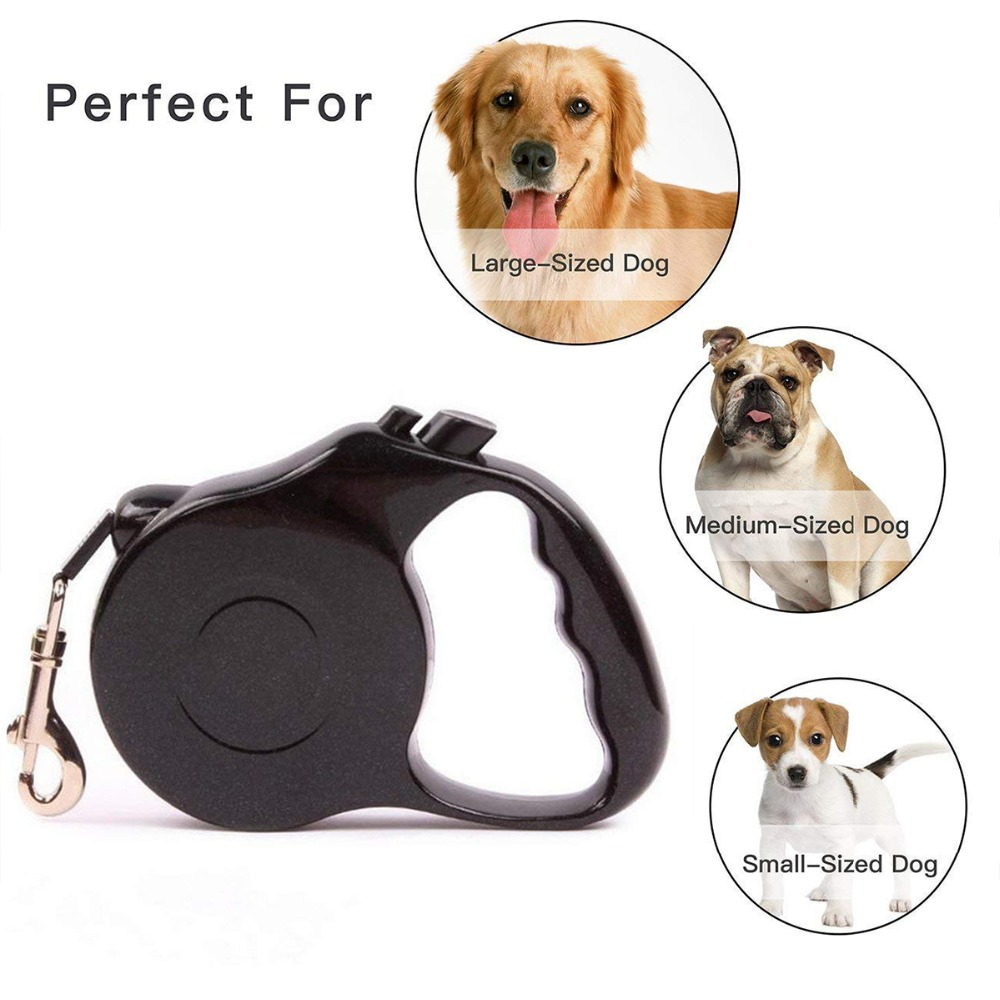 3/5M Retractable Dog Cat Harness Vest Reflective Walking Lead Leash Training Puppy Automatic Extending Rope Walking Leashes