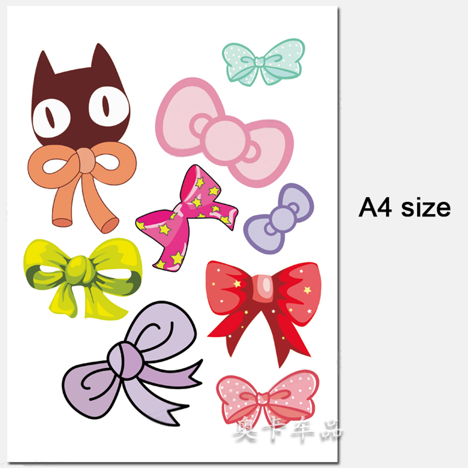 OCT-15 Butterfly Bow tie Car Door Decals for Beetle Vinyl Motorcycle Sticker 9pcs/pack