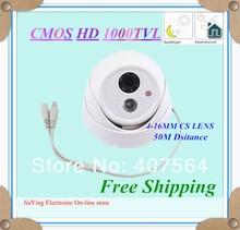 Ночное видение купольные Камера открытый/закрытый или грузовик Водонепроницаемый HD 1000 ТВЛ ИК видеонаблюдения Камера