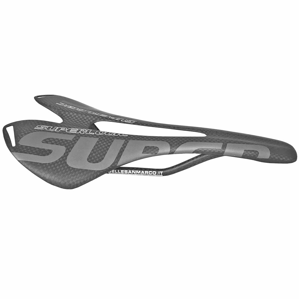 Superlogic 3K Full Carbon Fiber Bicycle Saddle Road MTB Bike Carbon Saddle Seat Matte Bike Cushion 275*143mm Cycling Parts