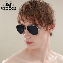 VEGOOS Polarized Men Aviation Pilot Sunglasses Stainless Steel Polaroid Driving Sun Glasses Eyewear Pilots Eyeglasses #3136