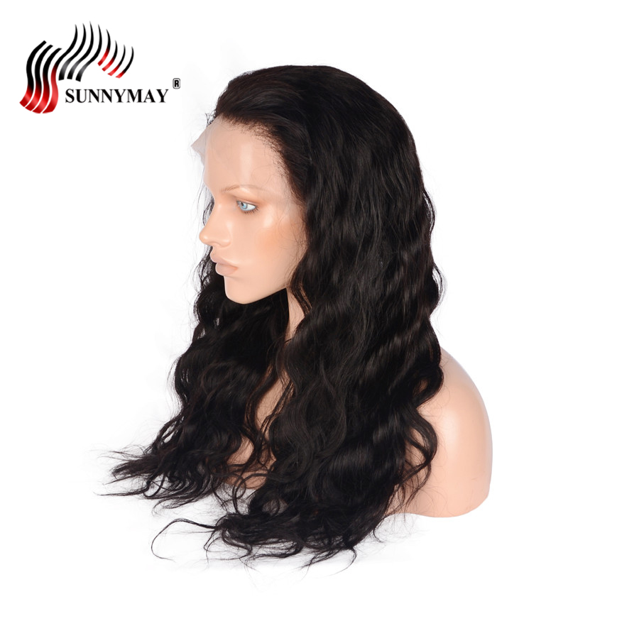 Sunnymay Full Lace Human Hair Wigs Brazilian Virgin Hair Body Wave Full Lace Wig Pre Plucked Bleached Knots
