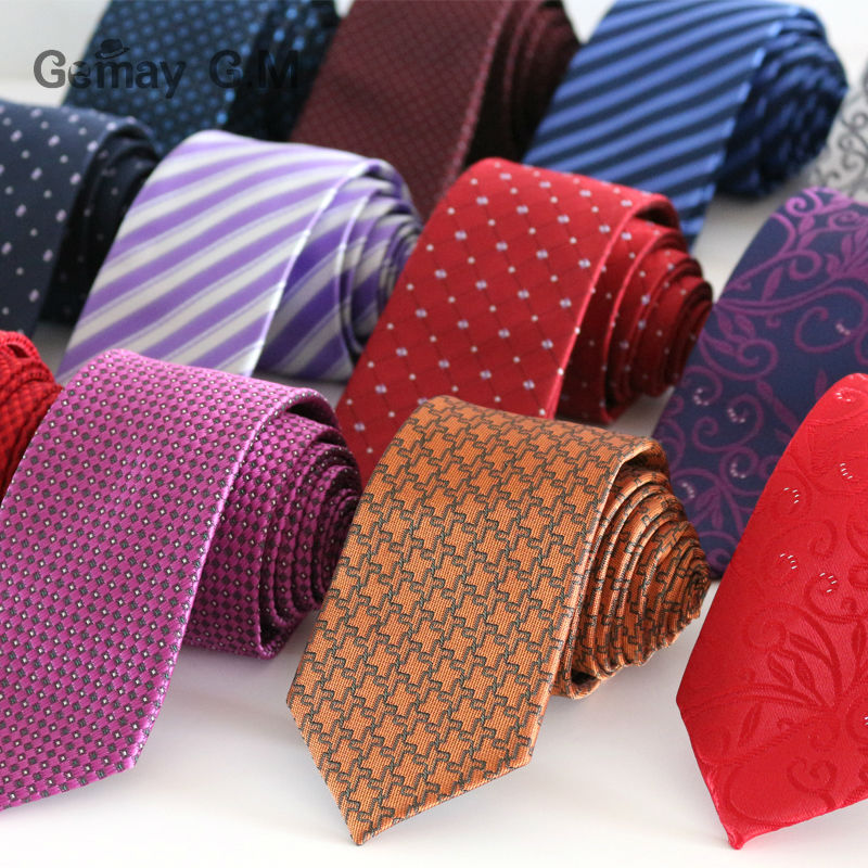 Newest fashion polyester Microfiber Skinny Mens Ties 6cm width Goom Neckties Slim Neck Tie Free Shipping