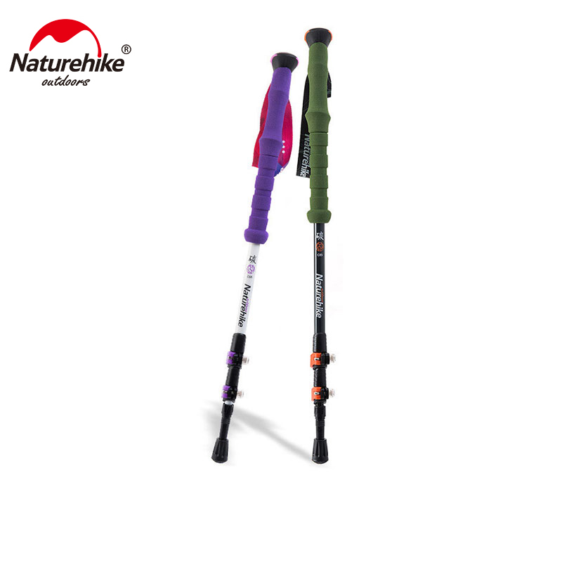 Naturehike Carbon Fiber Hiking Cane Walking Stick Trekking Pole Alpenstock For Ultra light Adjustable 1PCS 3