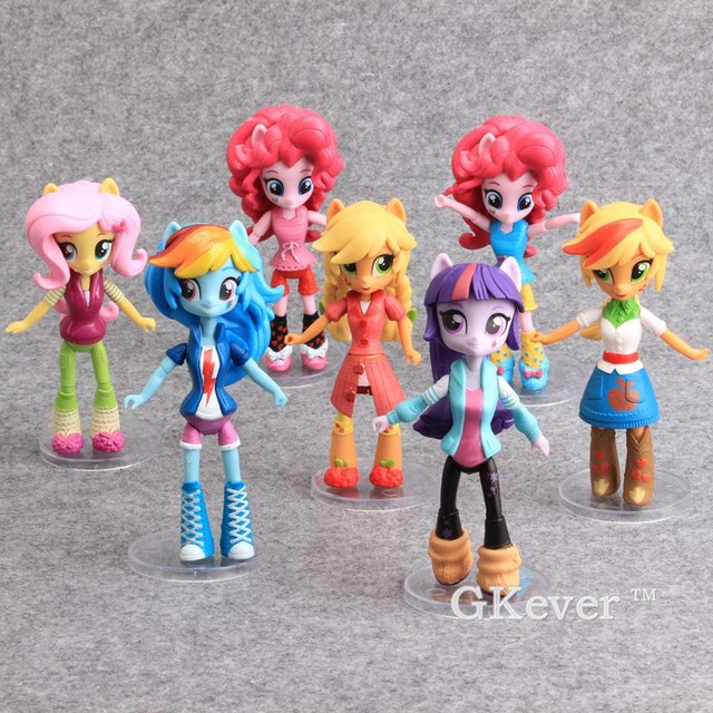 Cartoon Horses Girls Rainbow Dash Twilight Sparkle Horses PVC Action Figures Model Toys Ponies Horse Models 14cm