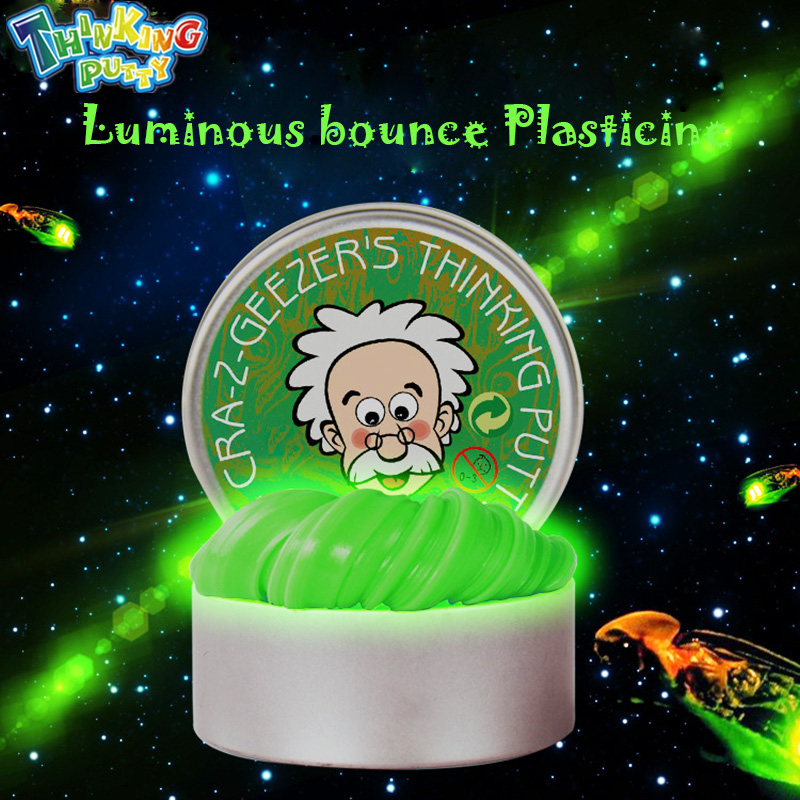 DIY Luminous Slime Modeling Clay Light Glow In The Dark Bouncing Mud Plasticine Playdough Education Novelty Creative Toys лонгслив printio iron maiden band