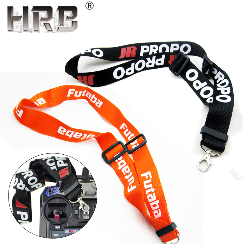 Adjustable Lanyard Strap RC Parts For JR PRO Propo Remote Controller Transmitter FPV For Futaba Orange Black Neck Belts 14cm Hot