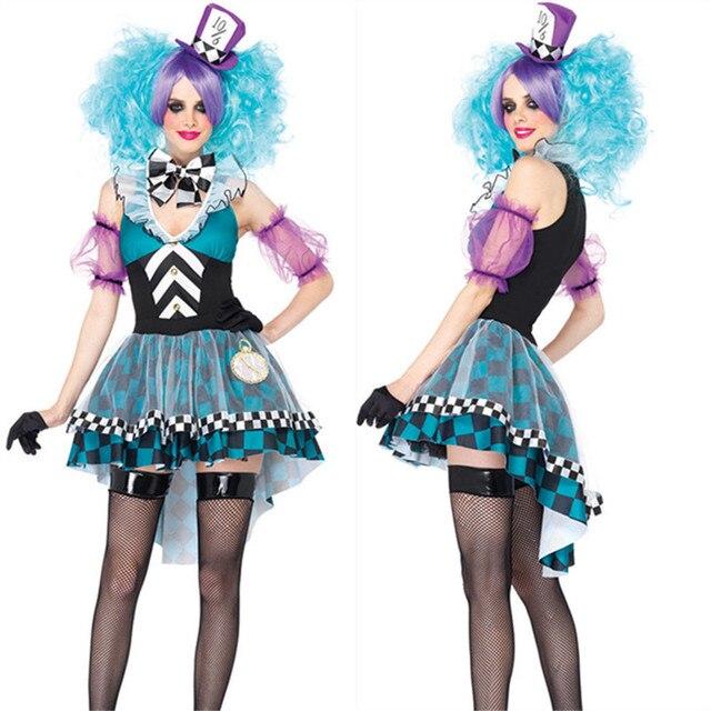 ff94bb015f5 Freie PP Neue Alice Im Wunderland Film Serie Kostüme Blaue Fee Mad Hatter Kostüm  Kleid für