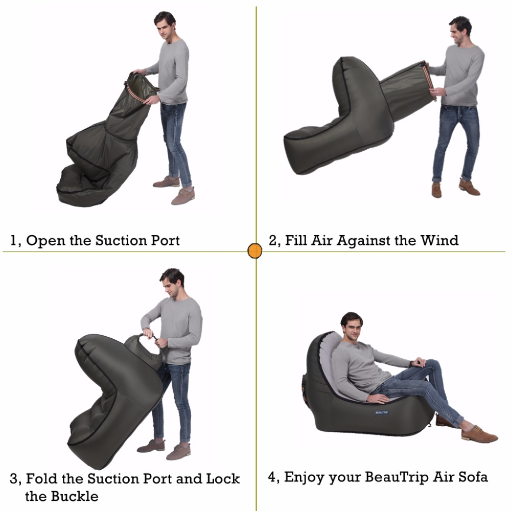 air travel beach chairs velvet chair covers ebay inflatable lounger outdoor lounge sofa camping hiking fishing equipment couch hammock lay bag in mat from sports