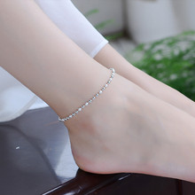 TJP New Fashion 925 Silver Women Anklets Jewelry Trendy Smooth Frosted Balls Bracelets For Girl Lady Party Accessories