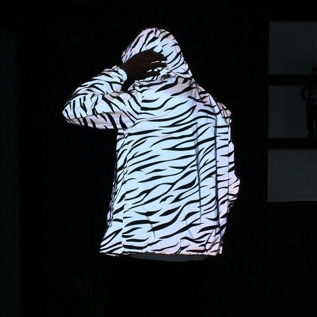 3 m full reflexivo jaqueta homens mulheres japonês harajuku hip hop streetwear primavera outono blusão noite brilhante jaqueta casual dos homens