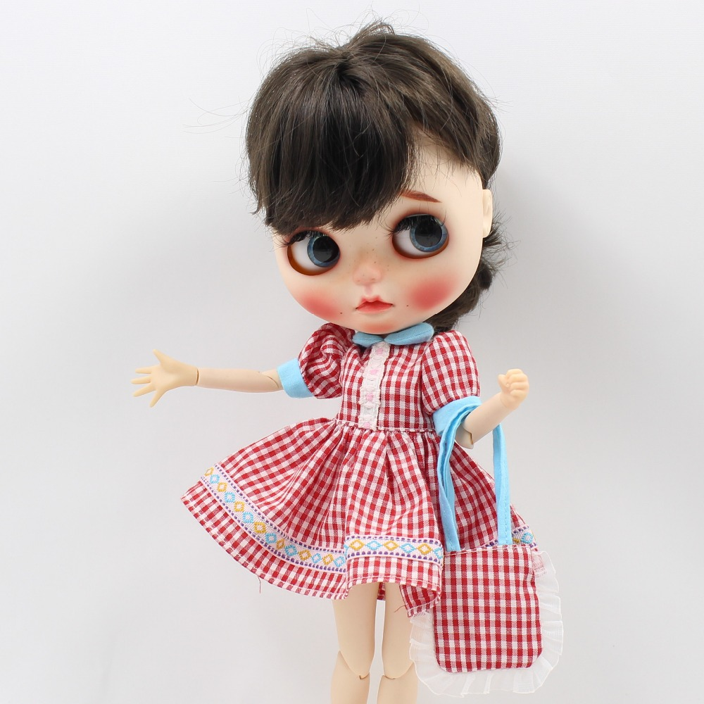 Neo Blythe Doll Pink Dress With Stocking & Bag 2