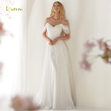 Loverxu V-Neck Sheath Wedding Dress Backless Bride Dress