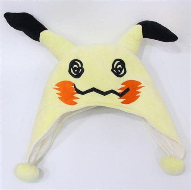 Japanese Anime Adult kids Pokemon Mimikyu Plush Hat Cosplay Cartoon Warm Cap 3