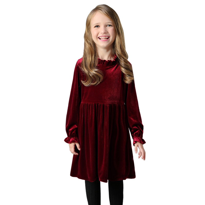 thick warm velvet dresses 2019 winter spring age for 4 14 teenage girls  long sleeve dress elegant frocks autumn big girl clothes-in Dresses from  Mother ... 7afc4f1b2d30