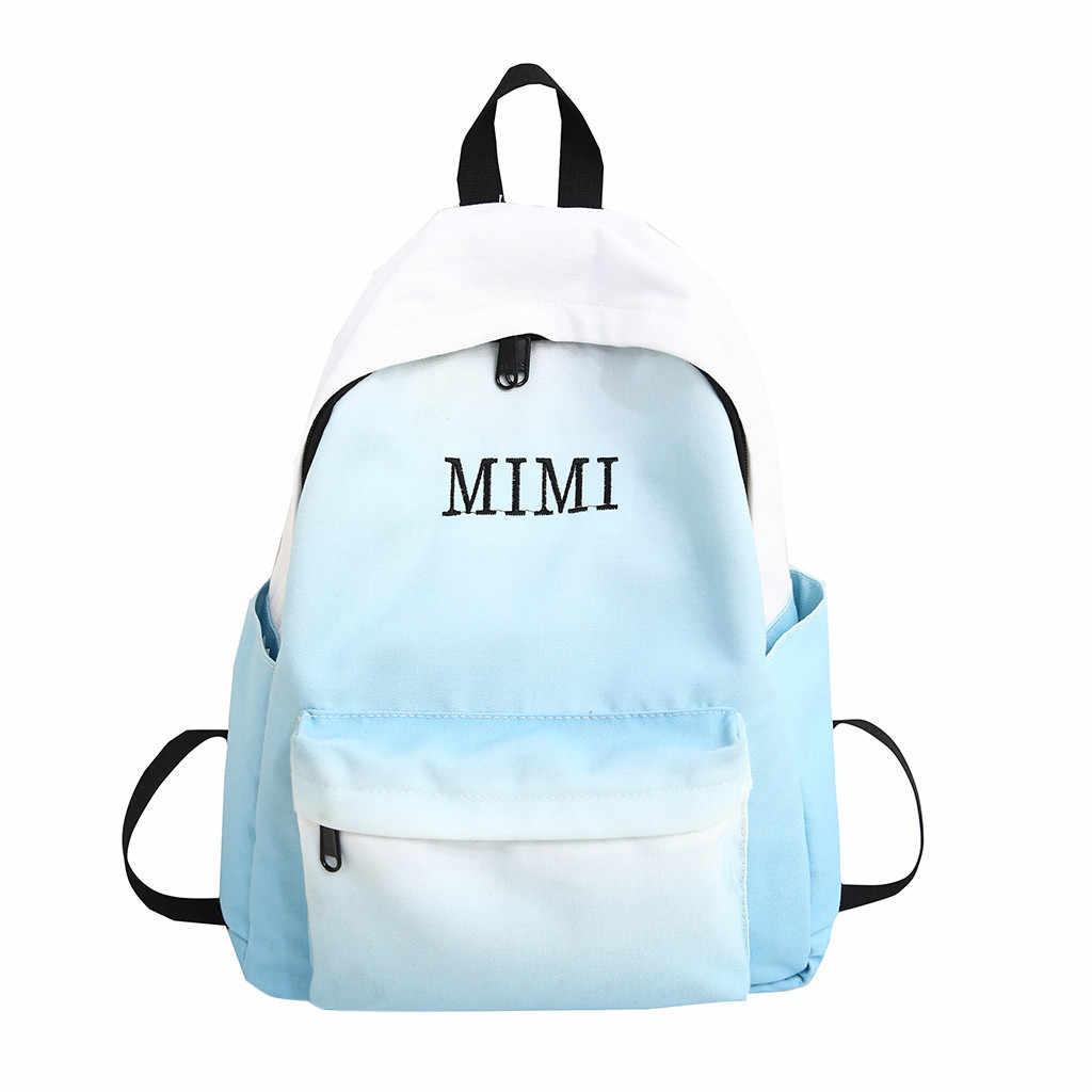 Maison Fabre Female School Bag Mori Student Bag Gradient Color Backpack Simple Travel Bag large capacity women backpack DROPSHIP