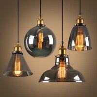 Neue stil rauchgrau E27 Pendelleuchten Glas Lampe Leuchte Pendelleuchte Glas Lampenschirm Hängen lampe Licht Für Bar Restaurant