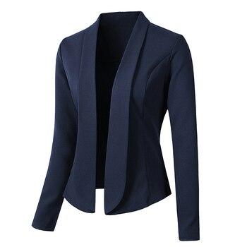 dcfa6d3ab8 Bigsweety Mulheres Blazers e Jaqueta de Venda Quente de Outono Mulheres  Paletó Blazer Formal de Trabalho Blazer Senhora Do Escritório de Negócios  Terno ...