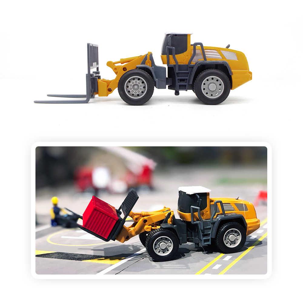 Diecast iş makinesi Traktör Oyuncak Kamyon Araba Modeli 1:55 Buldozer Kar Net Forklift Yol Silindiri araç seti Hediye Boy Çocuk