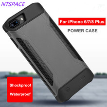 NTSPACE Backup Power Bank Pack For iPhone 6/6S/7/8 Portable Back Clip Battery Charger Case For iPhone 6/6S/7/8 Plus Battery Case стоимость