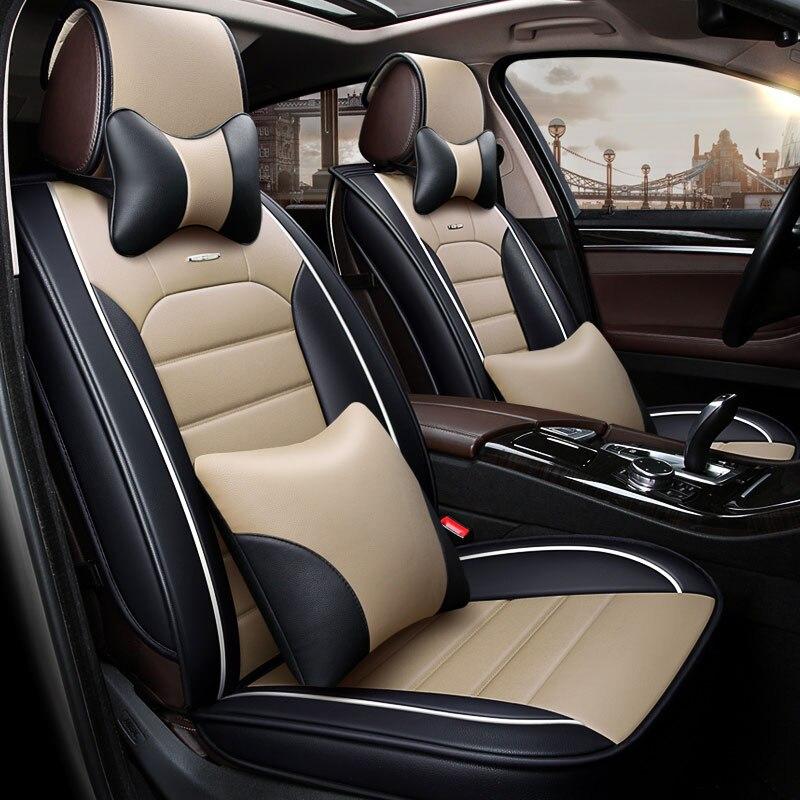 Couverture de siège de voiture en cuir de luxe sièges auto couvre les voitures universelles coussin de voiture-style pour mitsubishi sport carisma outlander 3xl - 4
