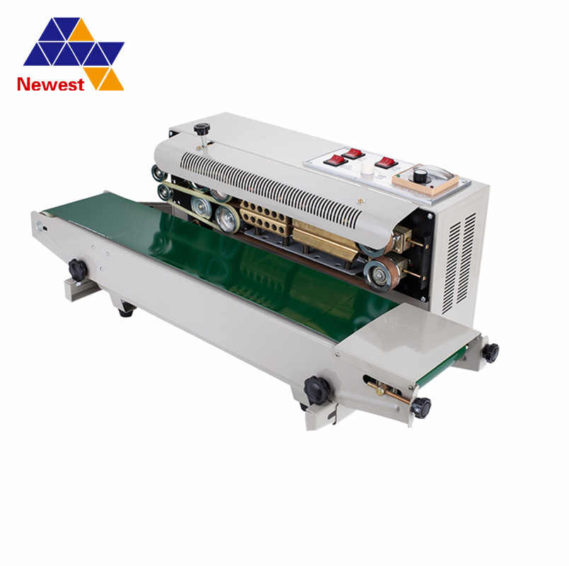 FR-900 Automatic Horizontal Continuous Plastic Bag Band Sealing Machine  Sealer/Auto Sealing Machine Continuous For Seal Bags