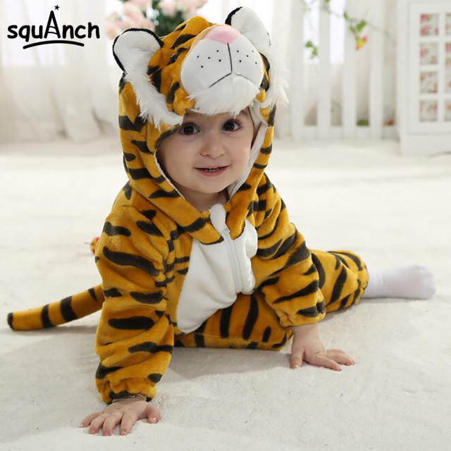a346416894 placeholder Cartoon Animal Tiger Baby Onesie Kids Kitty Kigurumi Cute Soft  Warm Onepiece Jumpsuit Infant Twins Spring