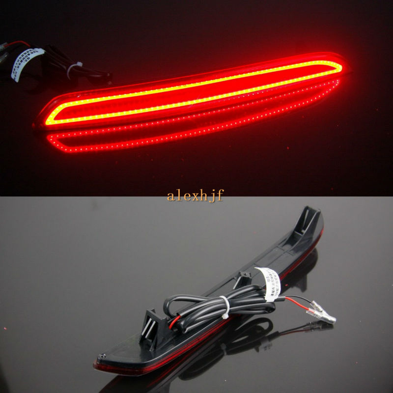 Varthion LED Light Guide Rear Bumper Brake Lights Case for Honda Crider 2013~ON, Brake+Turn Signals+Night Running Warning Lights led rear bumper warning lights car brake lamp cob running light led turn light for honda civic 2016 one pair