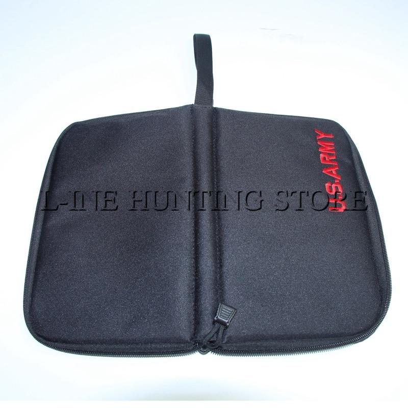 Army Clutch Bag Airsoft Paintball Shooting Pocket Bag Lightweight Nylon Pistol Bag Case Holster Belt Gun Holster Bag Pouch