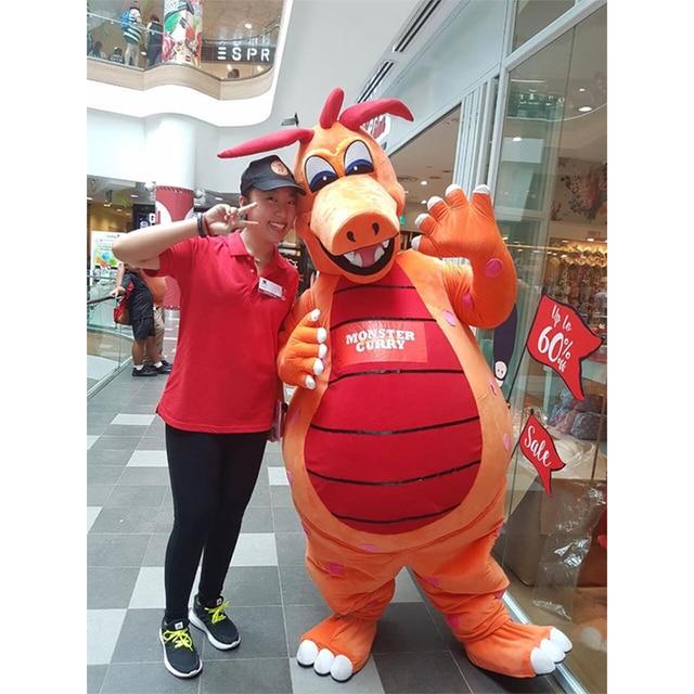 Custom Made Monster Curry Dragon Cartoon Mascot Unisex Party Mascot Christmas Birthday Gift Mascot Costume L0713
