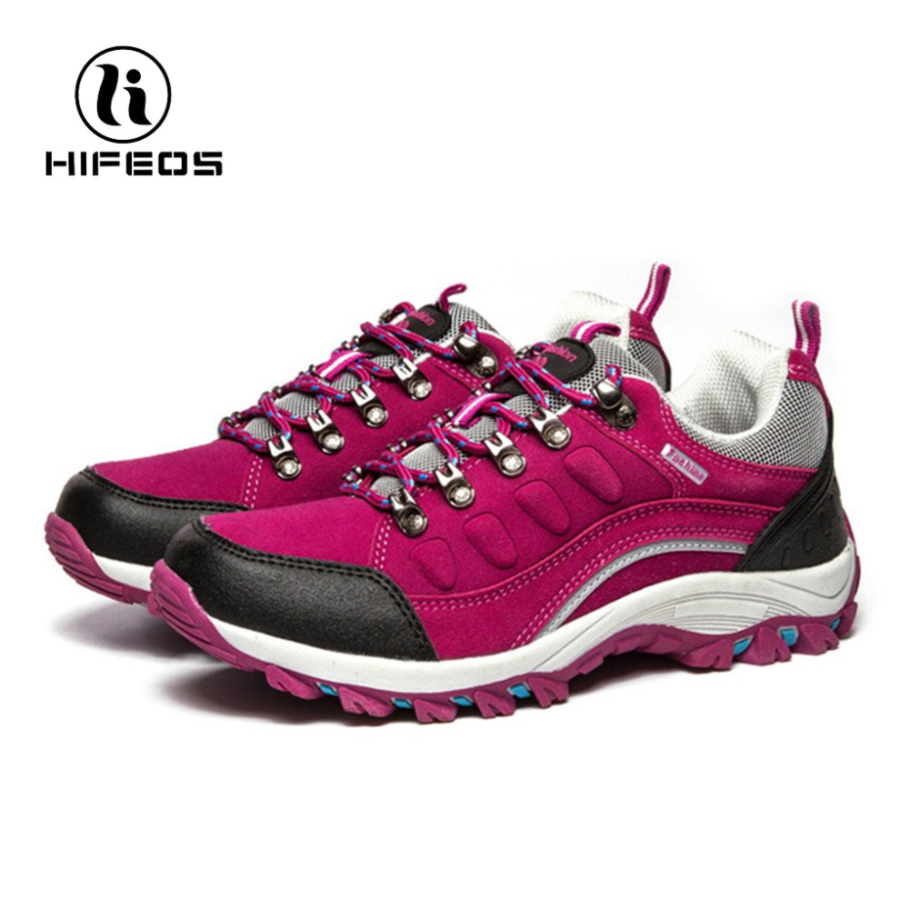 HIFEOS women's hiking shoes outdoor sports trekking mountain comfortable camping walking tourism winter sneakers ankle boots hifeos outdoor hiking shoes anti slip boots lace invisible increased men s shoes comfortable breathable sneakers climing m065