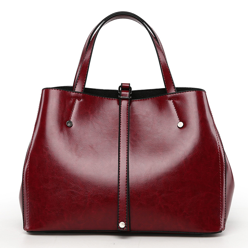 New Luxury Lady Handbag Women bag Genuine Leather Messenger bags Oil Wax Leather Shoulder bag Women handbag Black Burgundy Brown kids infant girl flower petals dress children bridesmaid toddler elegant dress vestido infantil formal party dress baby clothing