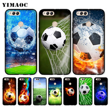 YIMAOC Football on water burning fire sports Soft Case for Huawei Honor Note 10 9 Lite 8C 8X 8 7X 7A 3GB Pro 7C 6A