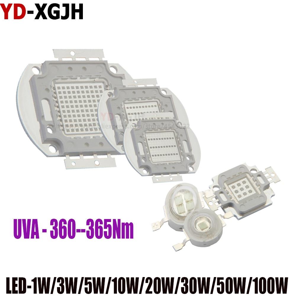 High Power UV Purple LED Chip 365nm 370nm 375nm 385nm 395nm 400nm 405nm 425nm For 360NM COB Ultraviolet Lights 3W5W10W20-50W100W