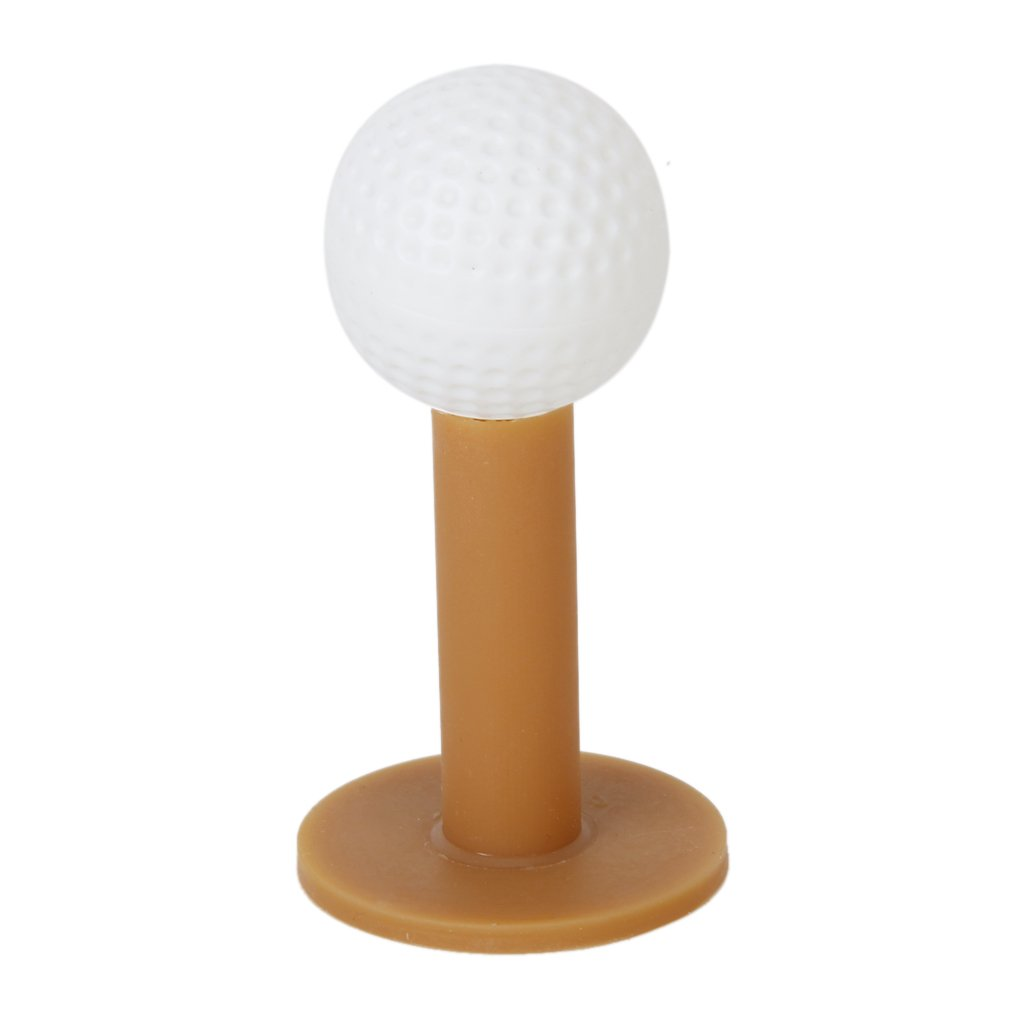 5 pcs 60mm / 2.36 Durable Rubber Golf Tees - Coffee