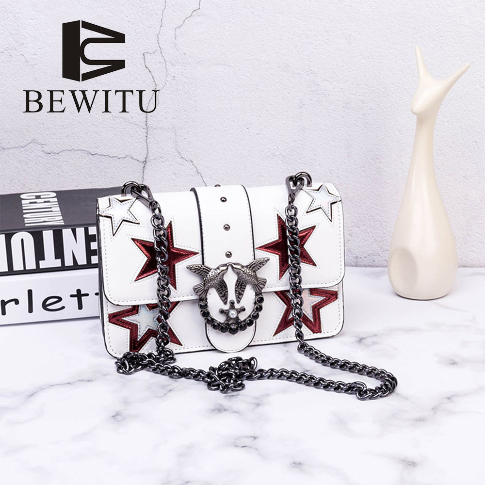 BEWITU Shuang Fei Swallow Bag Messenger Bag 2018 Spring New Diamond Pentacle Small Square Package lipt 2018 mini package bag chain bag small package of the new spring and summer leisure package free shipping